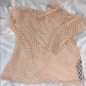 Zara nude sheer full sleeve top